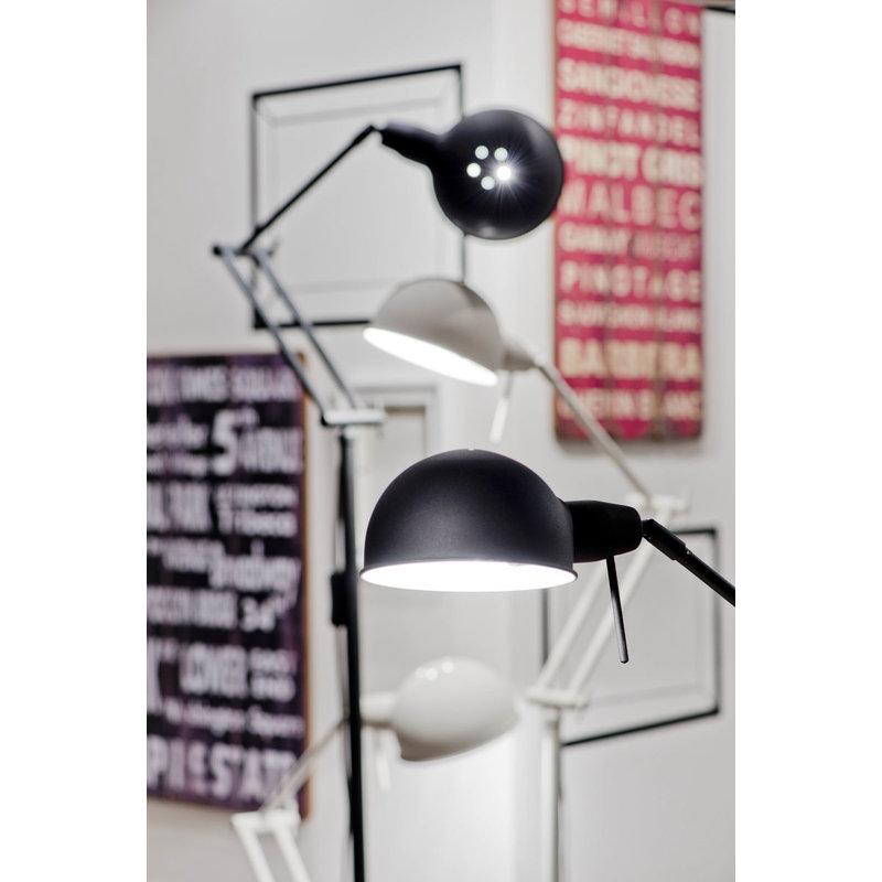 it's about RoMi-collectie Vloerlamp ijzer Glasgow mat zwart