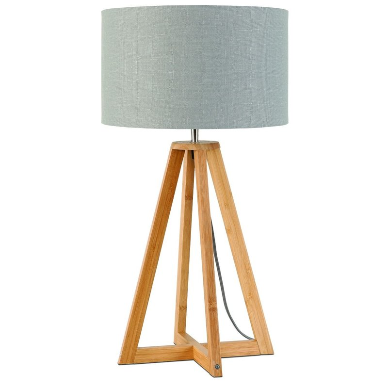 Good&Mojo-collectie Table lamp bamboo Everest 3220, ligt grey