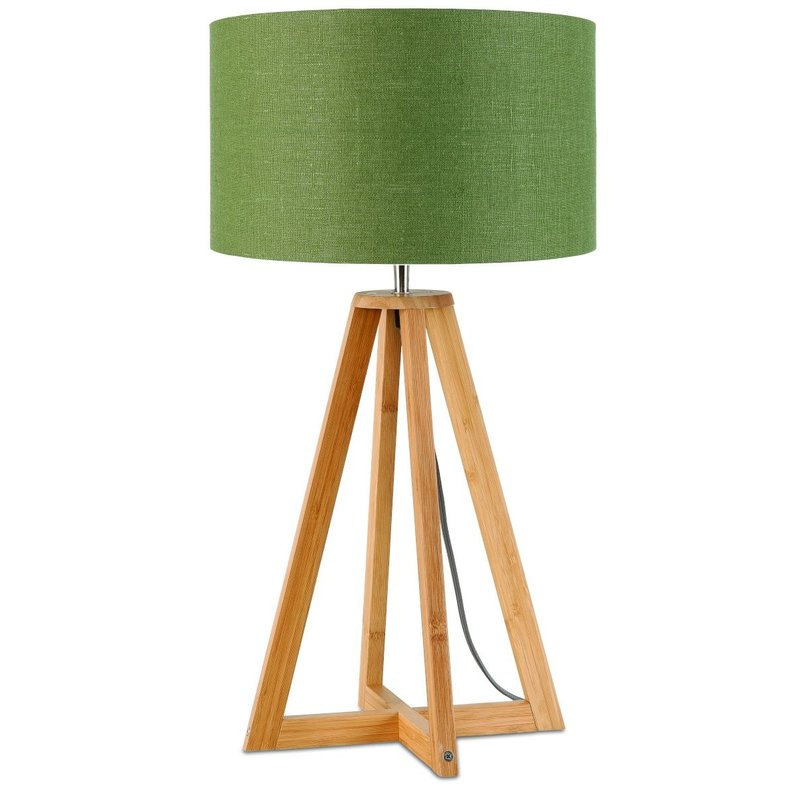 Good&Mojo-collectie Table lamp bamboo Everest 3220, green forest