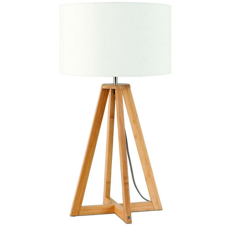 Good&Mojo-collectie Table lamp bamboo Everest 3220, linen white