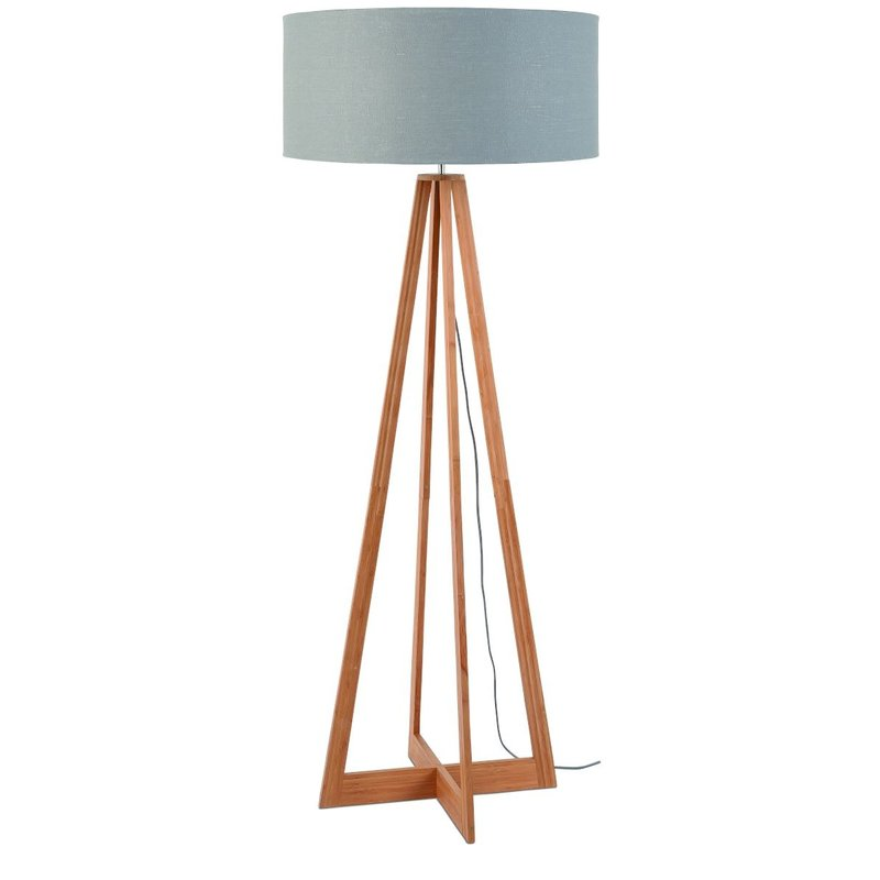 Good&Mojo-collectie Vloerlamp bamboe 4-poot Everest light grey