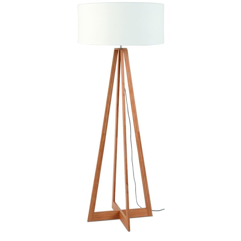 Good&Mojo-collectie Floor lamp bamboo Everest 6030, linen white