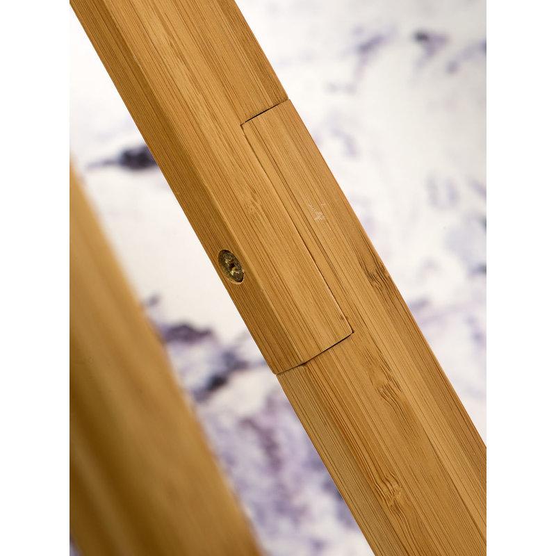 Good&Mojo-collectie Floor lamp bamboo Everest 6030, linen white