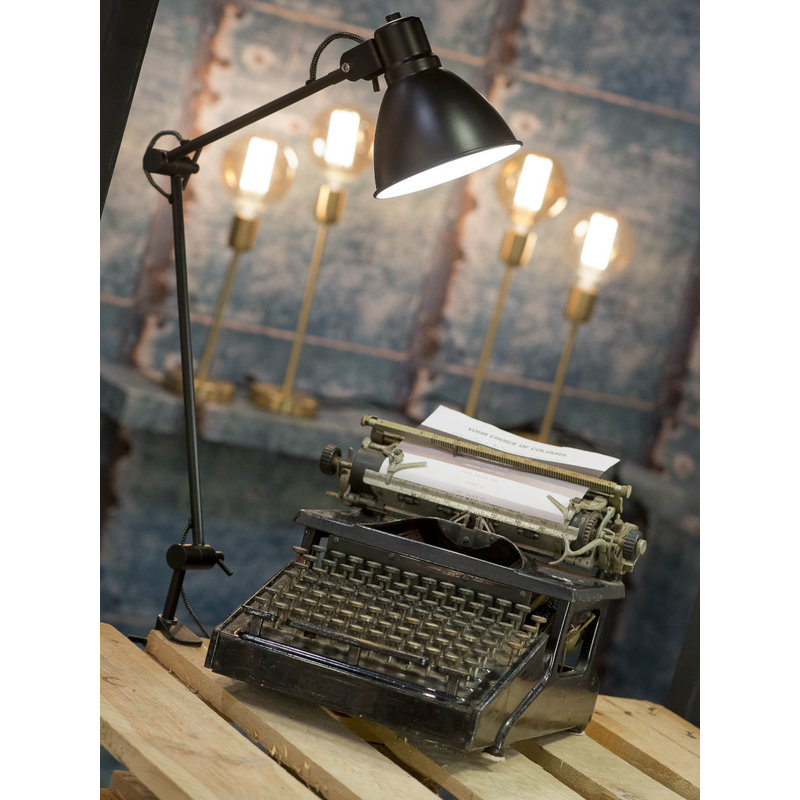 it's about RoMi-collectie Table lamp clamp iron Derby, black