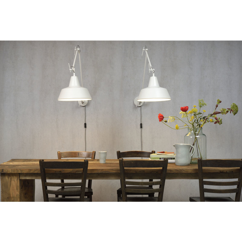 it's about RoMi-collectie Wall lamp iron Chicago, white