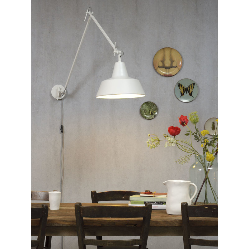 it's about RoMi-collectie Wandlamp ijzer Chicago mat wit