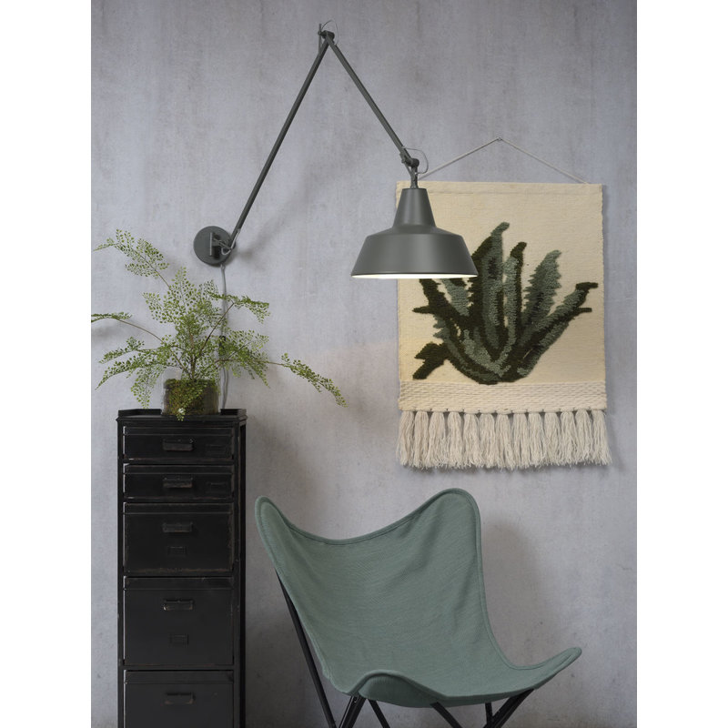 it's about RoMi-collectie Wandlamp ijzer Chicago mat grijsgroen