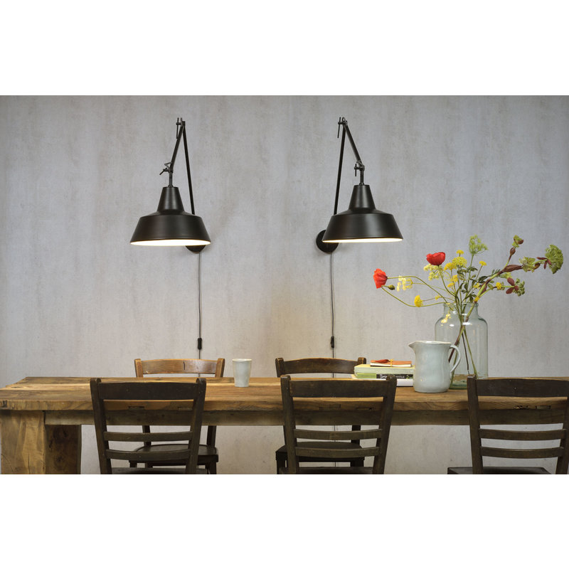 it's about RoMi-collectie Wall lamp iron Chicago, black