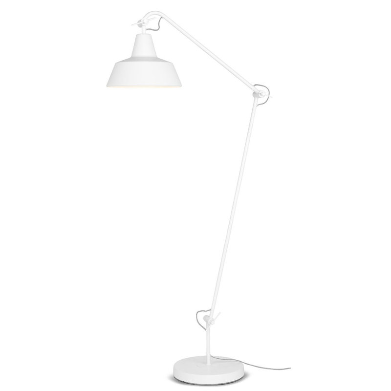 it's about RoMi-collectie Floor lamp iron Chicago, white
