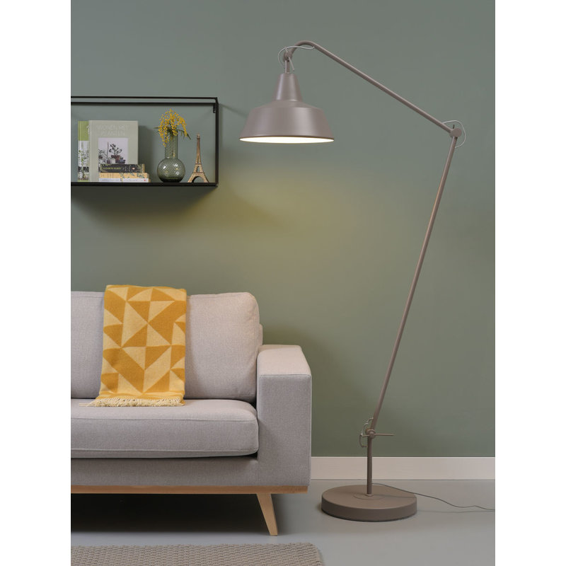 it's about RoMi-collectie Floor lamp iron Chicago, sand grey