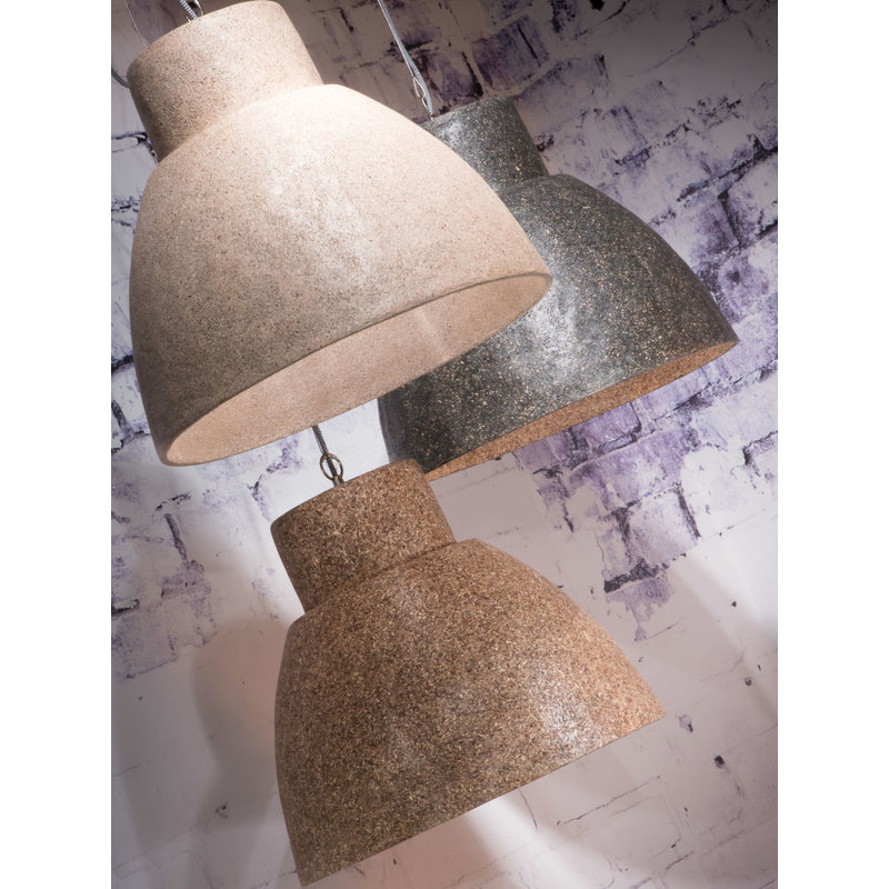 Good&Mojo-collectie Hanglamp Cebu houtsnippers/rond zand