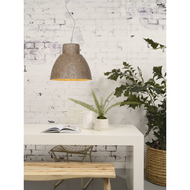 Good&Mojo-collectie Hanglamp Cebu houtsnippers/rond naturel