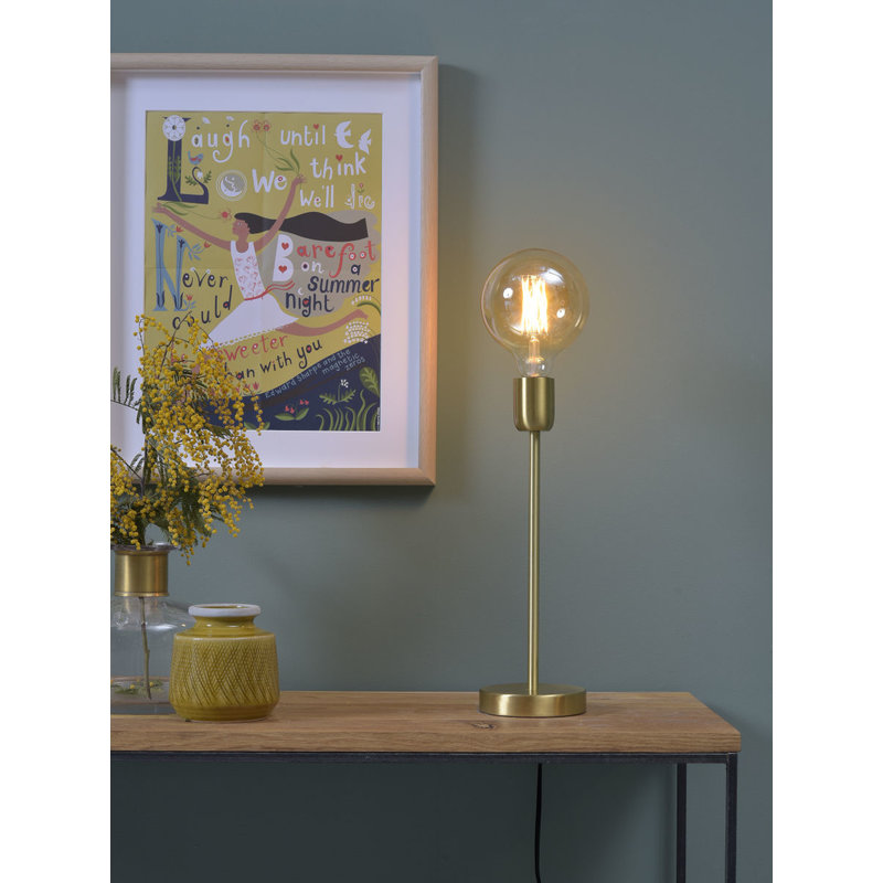 it's about RoMi-collectie Tafellamp ijzer Cannes goud 37cm