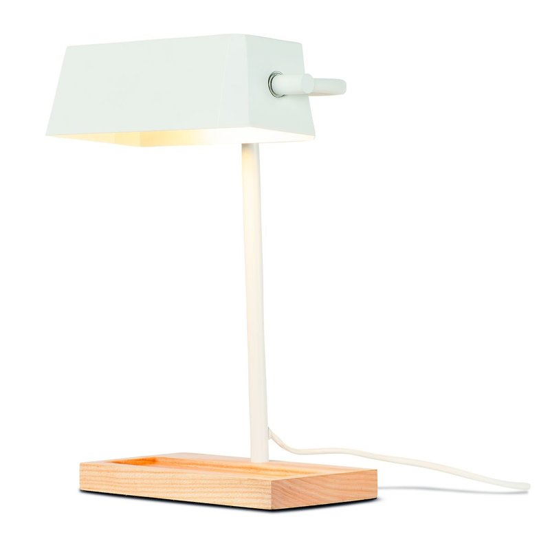 it's about RoMi-collectie Table lamp iron/wood Cambridge, white