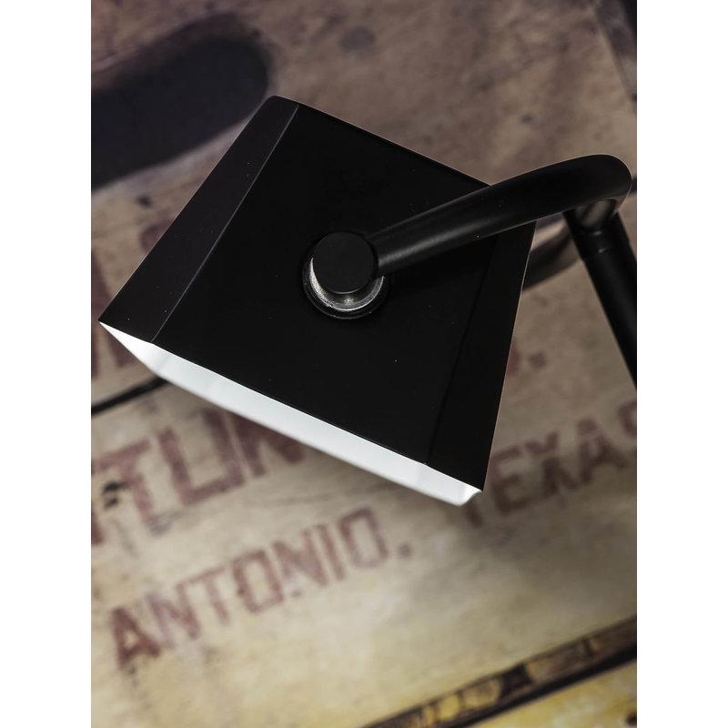 it's about RoMi-collectie Tafellamp ijzer/hout Cambridge zwart/naturel