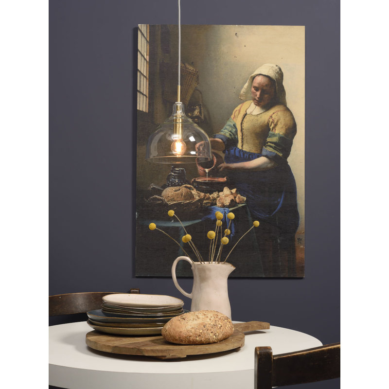 it's about RoMi-collectie Hanglamp glas Brussels transparant/goud, rond