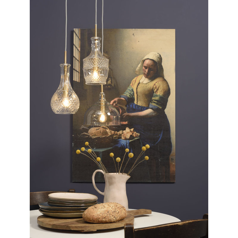 it's about RoMi-collectie Hanging lamp glass Brussels transparent/gold, drop
