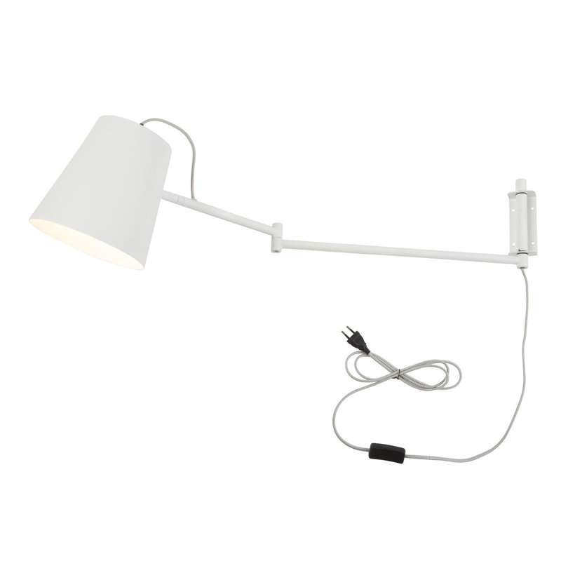 it's about RoMi-collectie Wall lamp iron Brisbane, white