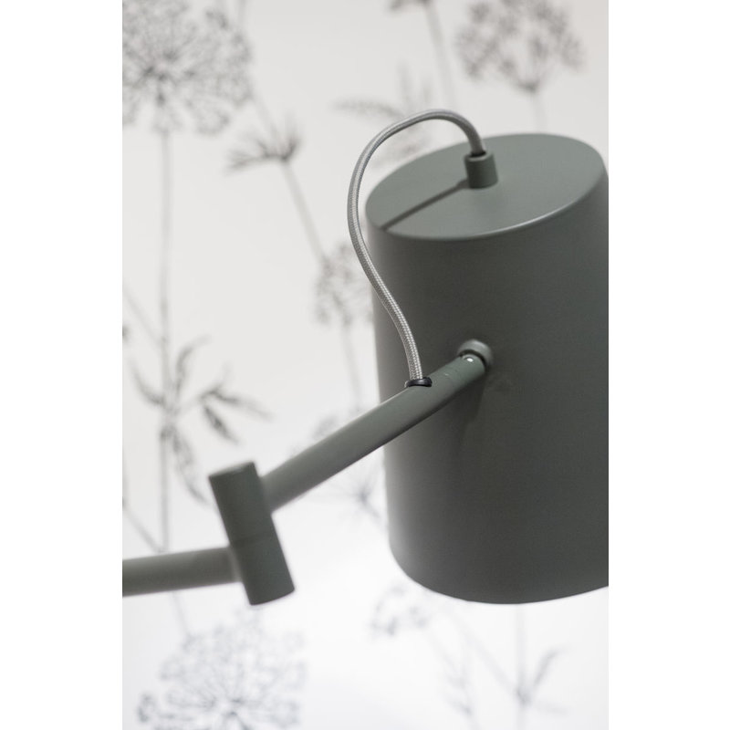 it's about RoMi-collectie Wall lamp iron Brisbane, grey-green