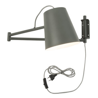 it's about RoMi Wall lamp iron Brisbane, grey-green
