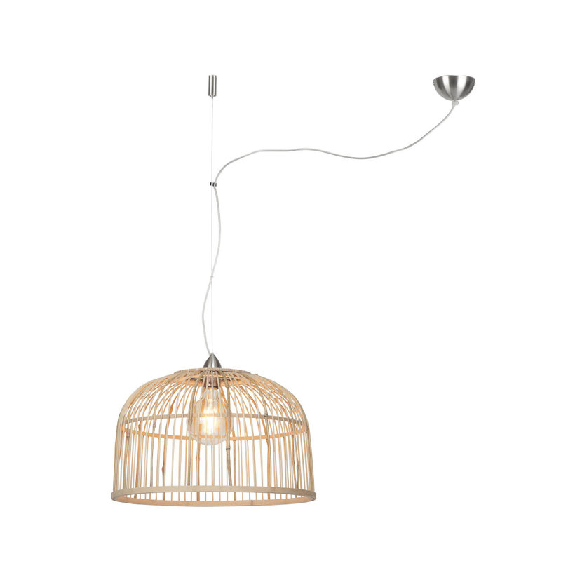 Good&Mojo-collectie Hanging lamp Borneo bamboo single shade natural, L