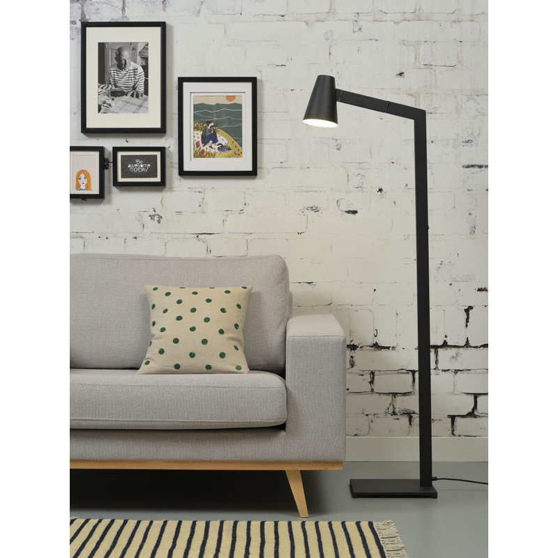 it's about RoMi-collectie Floor lamp iron Biarritz, black