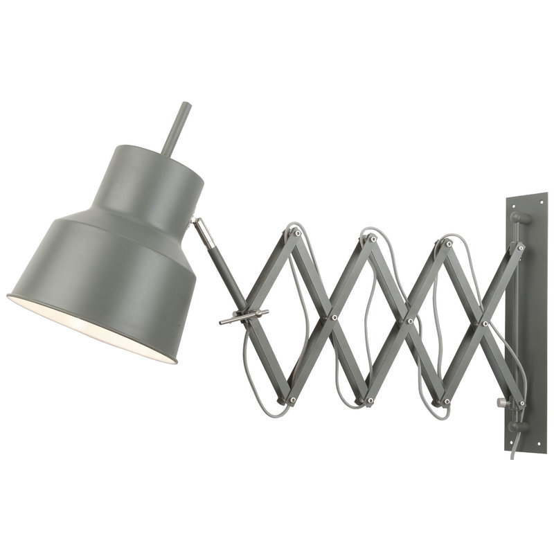 it's about RoMi-collectie Wall lamp iron/scissors Belfast, grey green