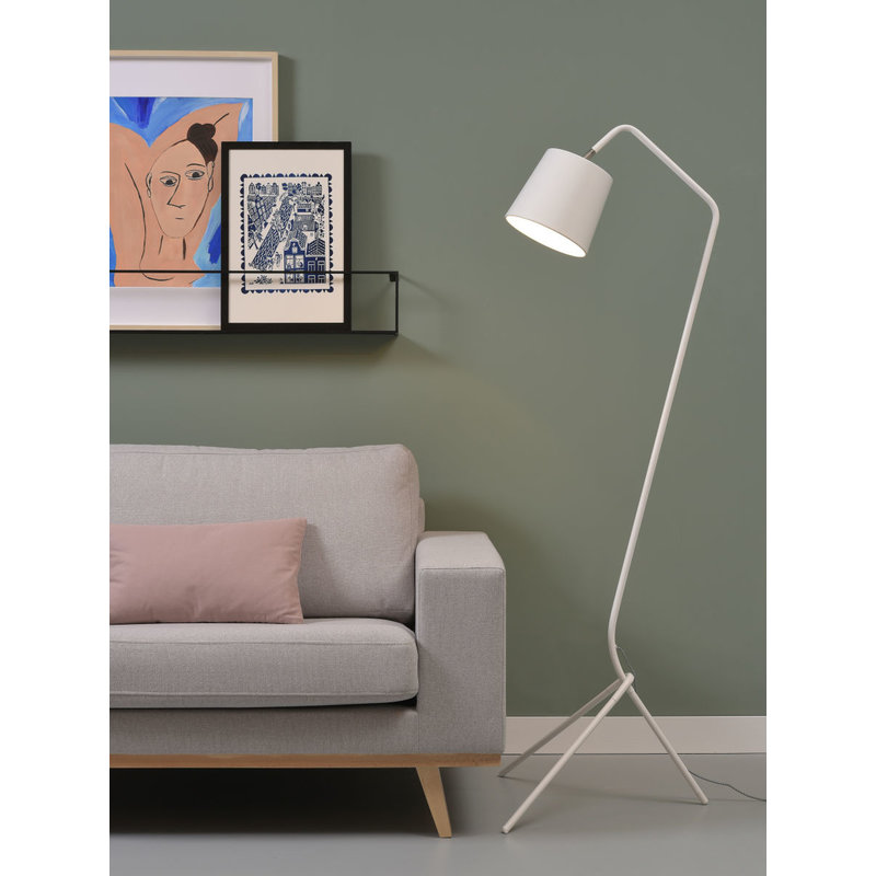 it's about RoMi-collectie Vloerlamp ijzer 3-poot Barcelona wit
