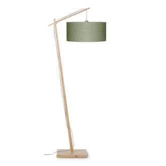 Good&Mojo Floor lamp Andes bamboo 4723, green forest