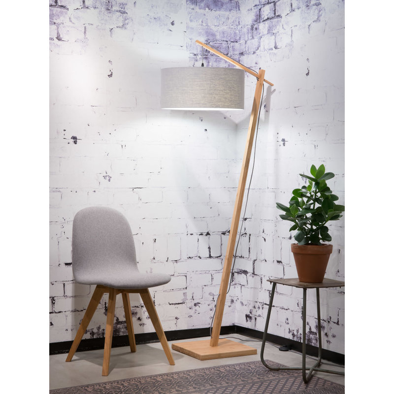 Good&Mojo-collectie Floor lamp Andes bamboo 4723, light grey