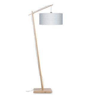Good&Mojo Vloerlamp Andes bamboe  eco linnen lichtgrijs