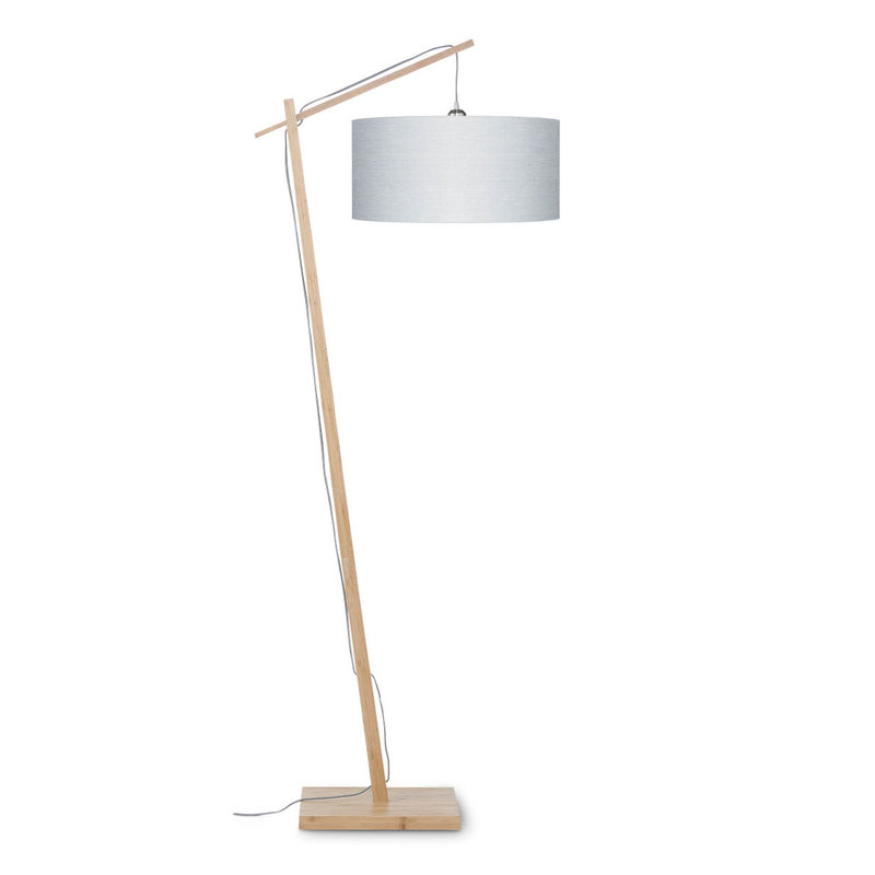 Good&Mojo-collectie Vloerlamp Andes bamboe  eco linnen Light grey