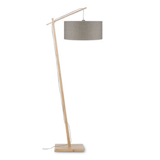 Good&Mojo Floor lamp Andes bamboo 4723, linen dark
