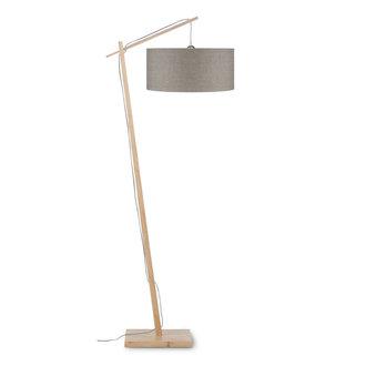 Good&Mojo Vloerlamp Andes bamboe eco linnen, linen dark