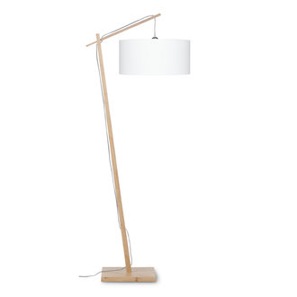 Good&Mojo Vloerlamp Andes bamboe eco linnen wit