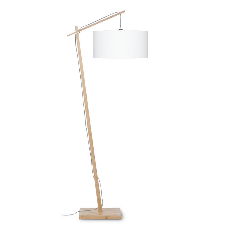 Good&Mojo-collectie Vloerlamp Andes bamboe eco linnen wit