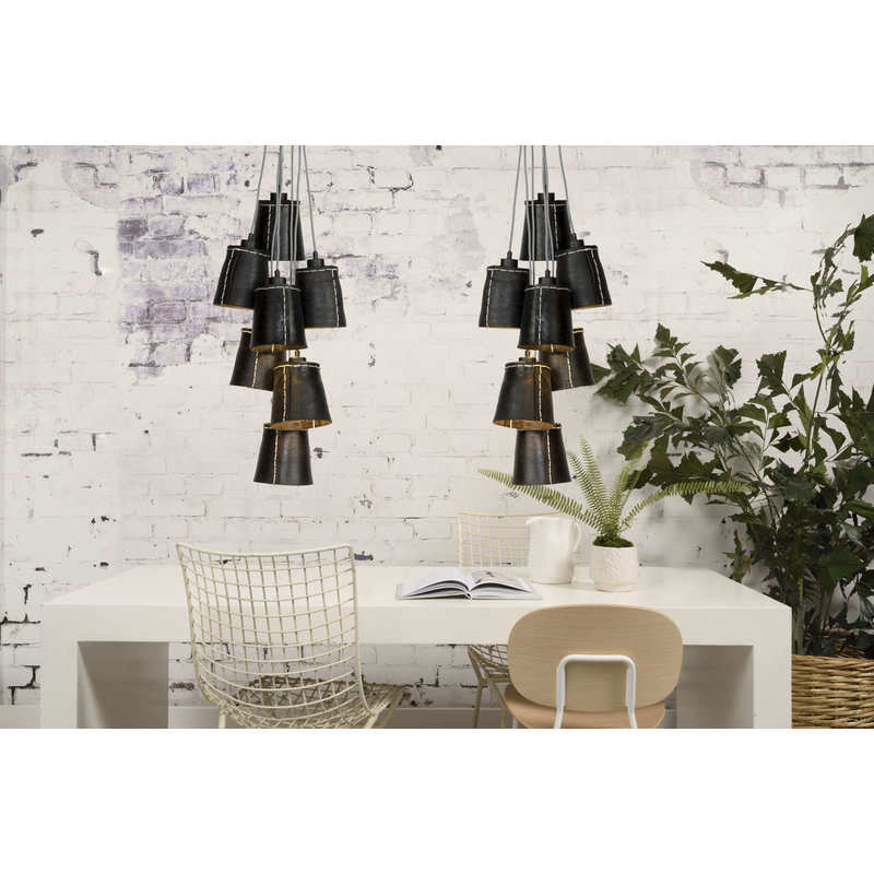 Good&Mojo-collectie Hanglamp Amazon recycled autoband 7-kappen L