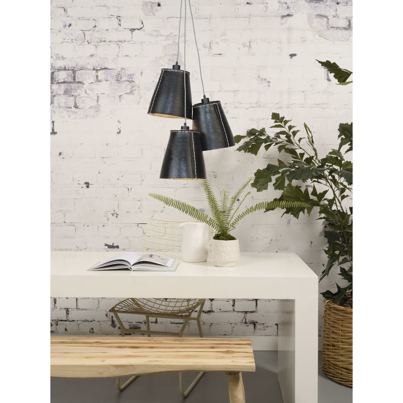 Good&Mojo-collectie Hanglamp Amazon recycled autoband 3-kappen  L