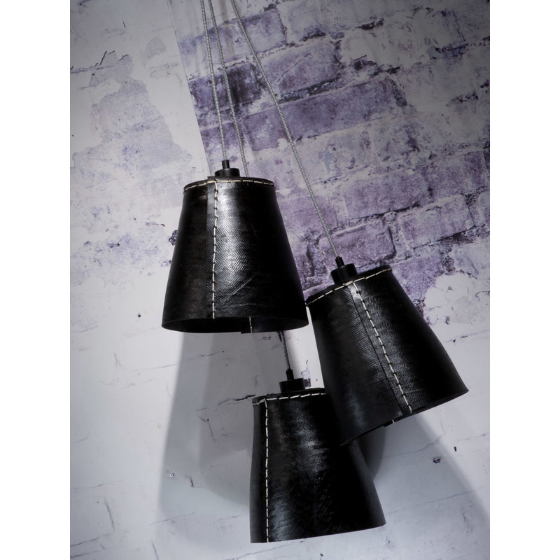 Good&Mojo-collectie Hanging lamp Amazon/3-shade black, L