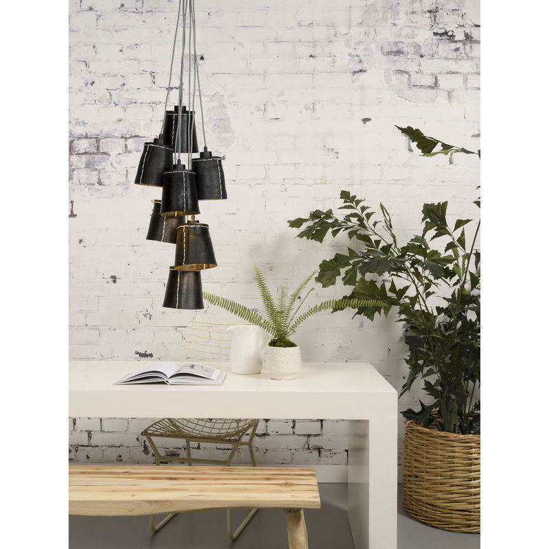 Good&Mojo-collectie Hanglamp Amazon recycled autoband 7-kappen  S