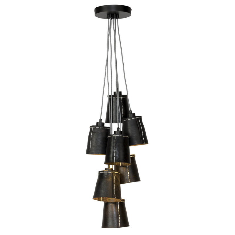 Good&Mojo-collectie Hanging lamp Amazon/7-shade  black, S
