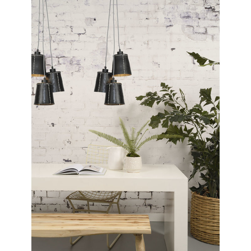 Good&Mojo-collectie Hanging lamp Amazon/3-shade black, S