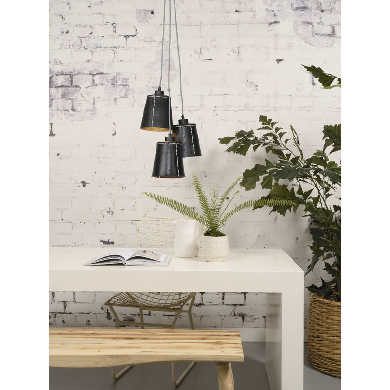 Good&Mojo-collectie Hanglamp Amazon recycled autoband 3-kappen S
