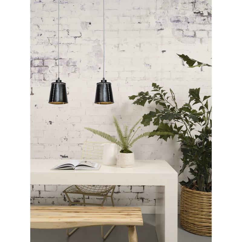 Good&Mojo-collectie Hanging lamp Amazon/1-shade black, S