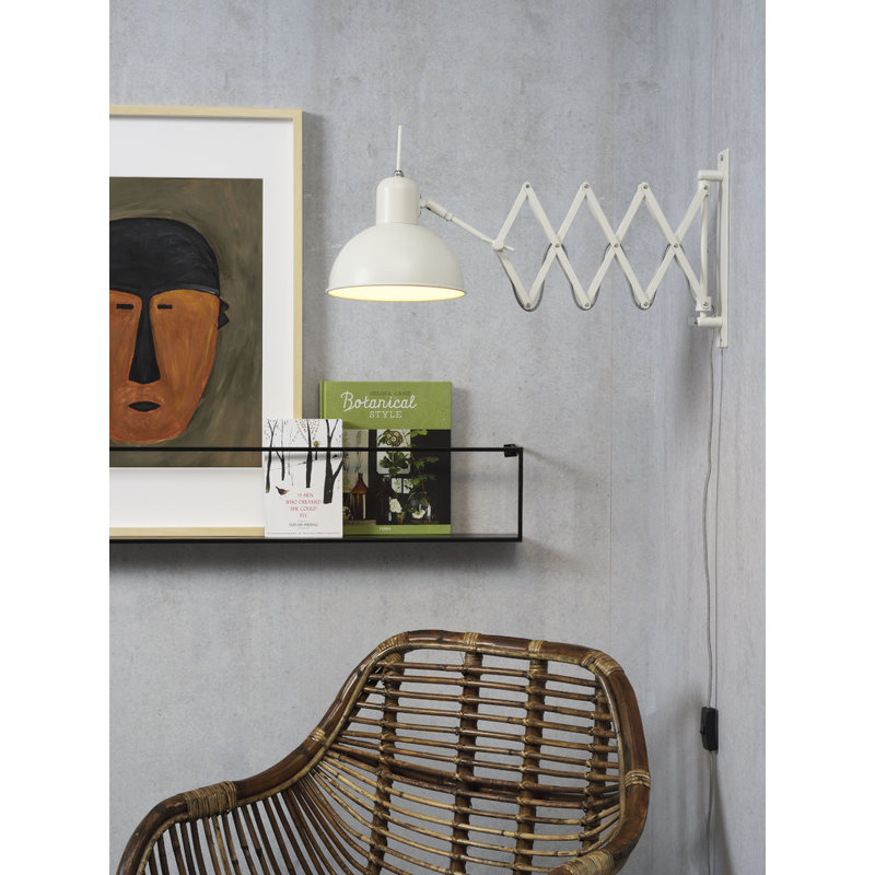 it's about RoMi-collectie Wall lamp iron/scissors Aberdeen, white