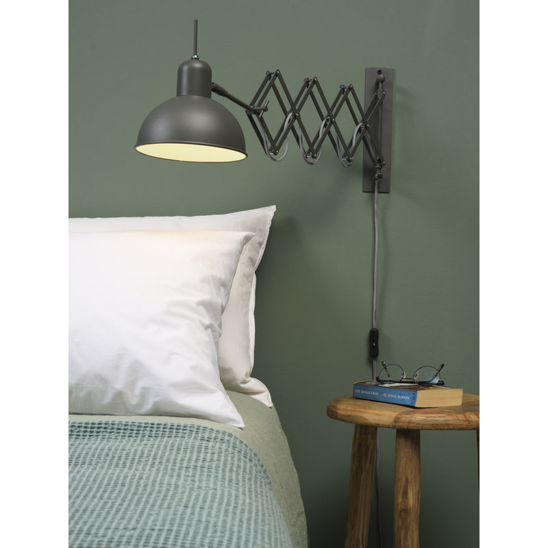 it's about RoMi-collectie Wall lamp iron/scissors Aberdeen, grey green