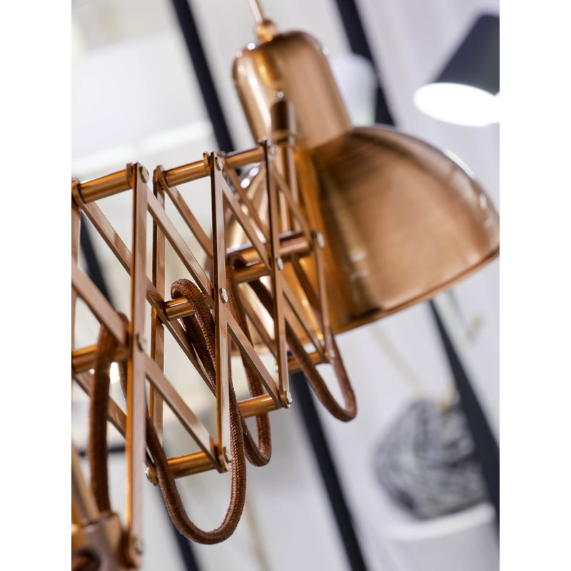 it's about RoMi-collectie Wall lamp iron/scissors Aberdeen, copper