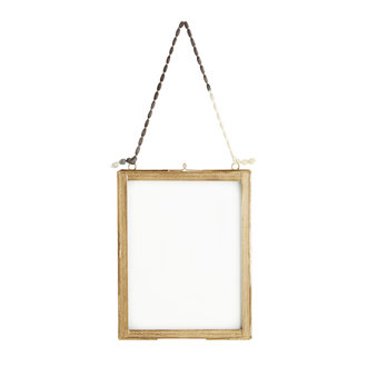 Madam Stoltz Hanging photo frame w/ brass borders 13x18 cm - Copy