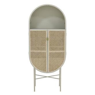 HK living retro oval cabinet light grey - Copy
