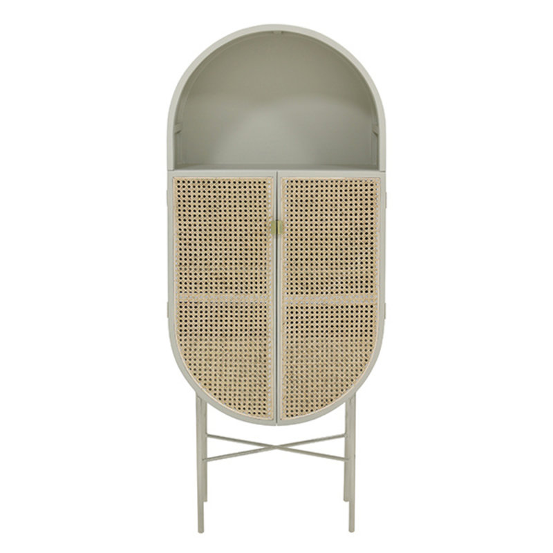 HK living-collectie retro oval cabinet light grey - Copy